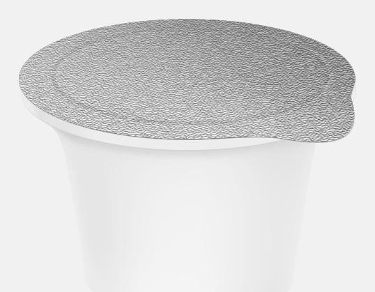 Die Cut Aluminium Foil Lids sade kapak