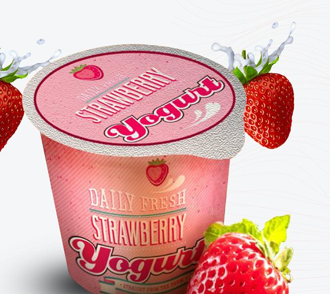 Die Cut Aluminum Yogurt Lids2